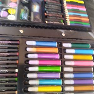 Pastels Pencils Markers Art Set Case Drawing Fun